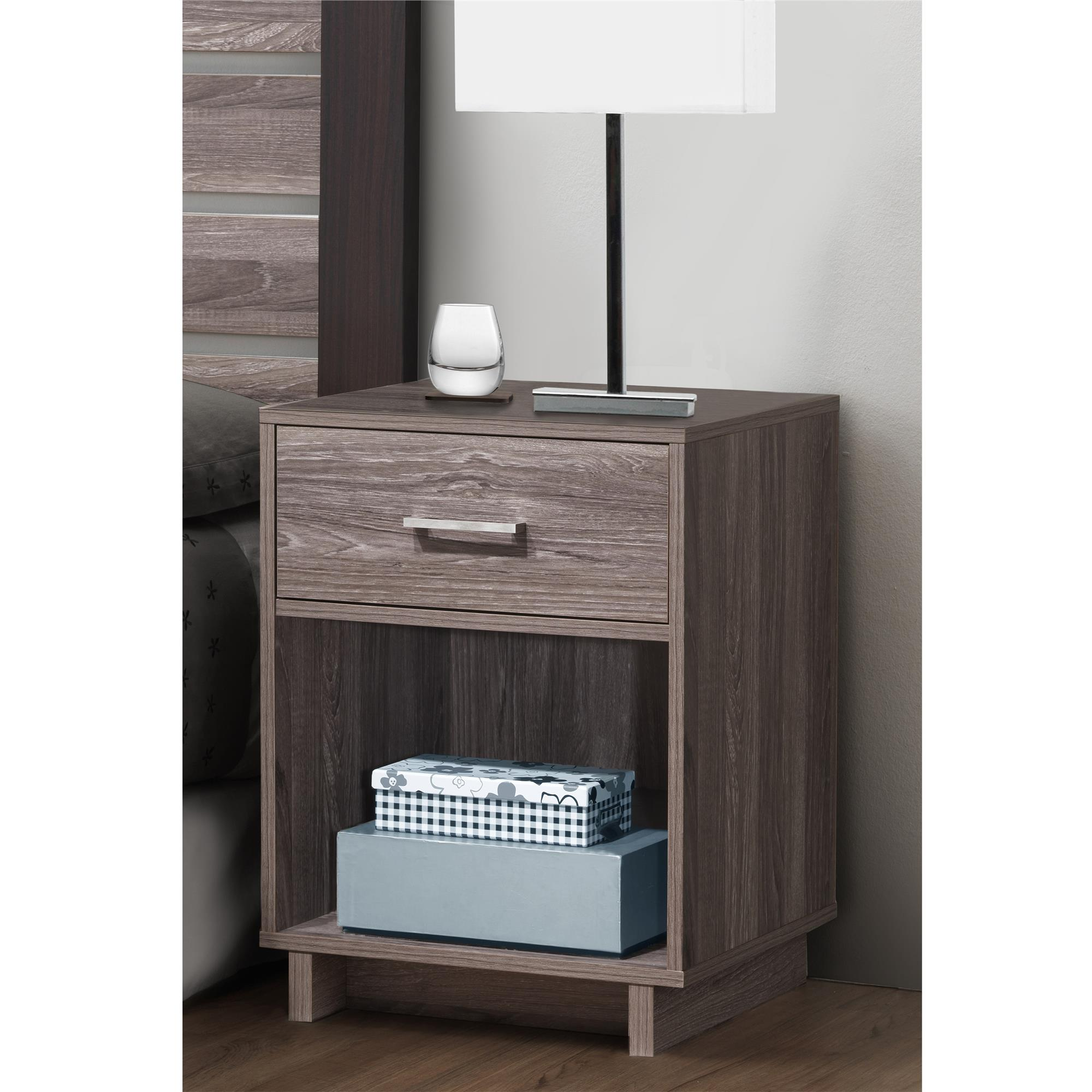 Mainstays Silverton Nightstand, Multiple Colors