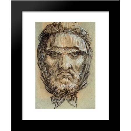 Head of Plutus, God of Wealth 20x24 Framed Art Print by Prud'hon, Pierre-Paul