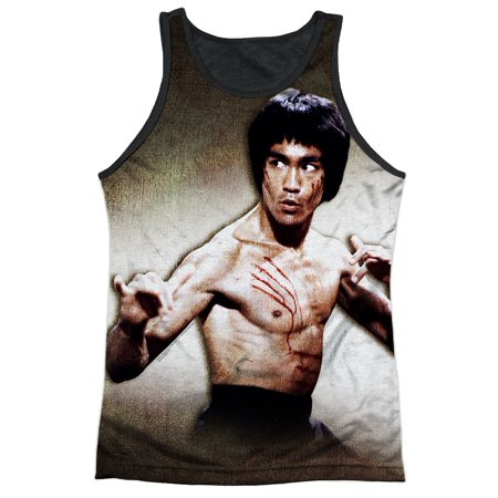 Bruce Lee Martial Arts Icon Attack Stance Adult Black Back Tank Top Shirt](Bruce Lee Outfits)