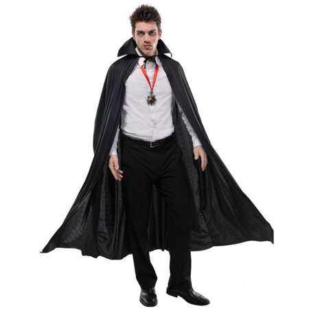 Adult Full Length Black Cape Vampire Dracula (Diy Dracula Costume)