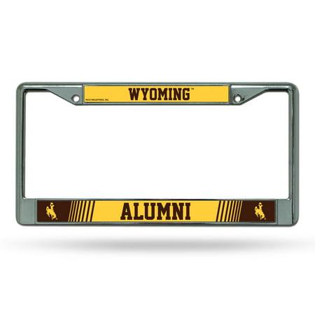 Wyoming Cowboys Alumni NCAA Chrome Metal License Plate Frame Alumni Chrome Frame