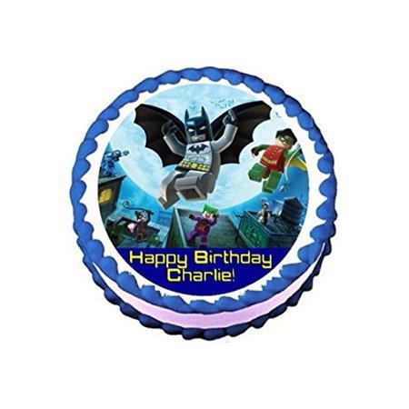 Lego Batman #2 Personalized Edible Cake Topper Image -- 7.5