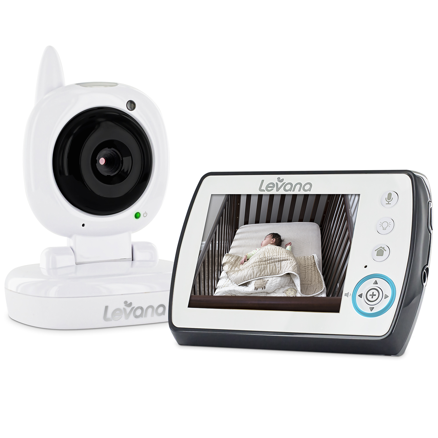 "Levana Ayden 3.5"" Digital Video Baby Monitor with Night Vision Camera, Temperature Monitoring, Talk to Baby"