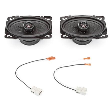 "1988-1990 Buick Park Avenue Front Dash 4"" x 6"" 240 Watt Performance Replacement Upgrade Speakers by Skar Audio"