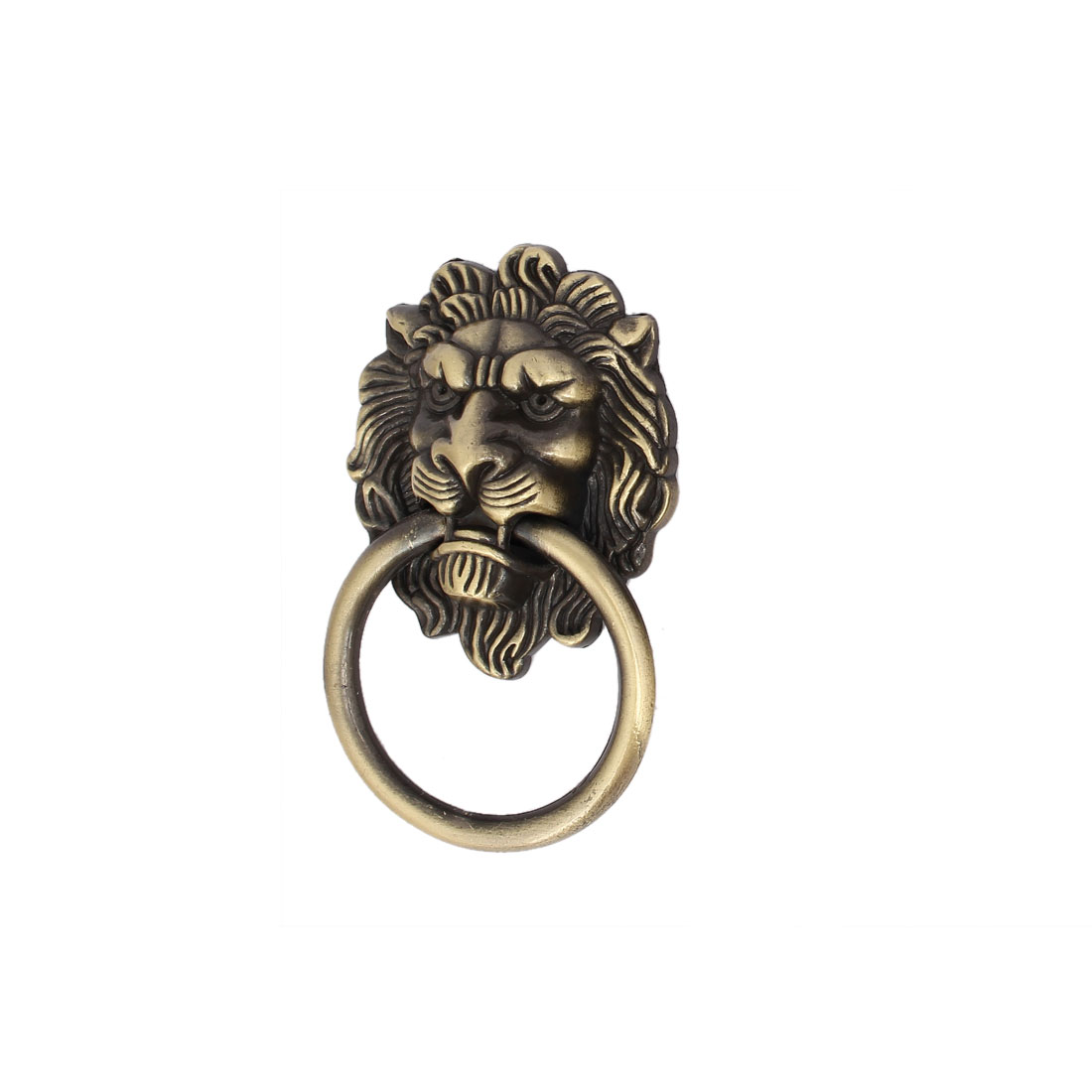 Home Furniture Chest Lion Shape Metal Pull Handle Ring Bronze Tone - image 3 of 3