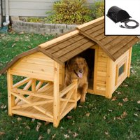 Boomer & George Wooden Barn Dog House with Heater