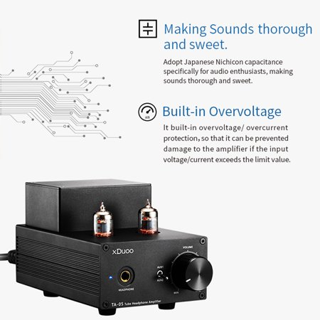 XDuoo TA-05 Hi-Fi Vacuum Tube Headphone Amplifier High-quality Stereo Sound for Music Enthusiasts - image 1 of 7