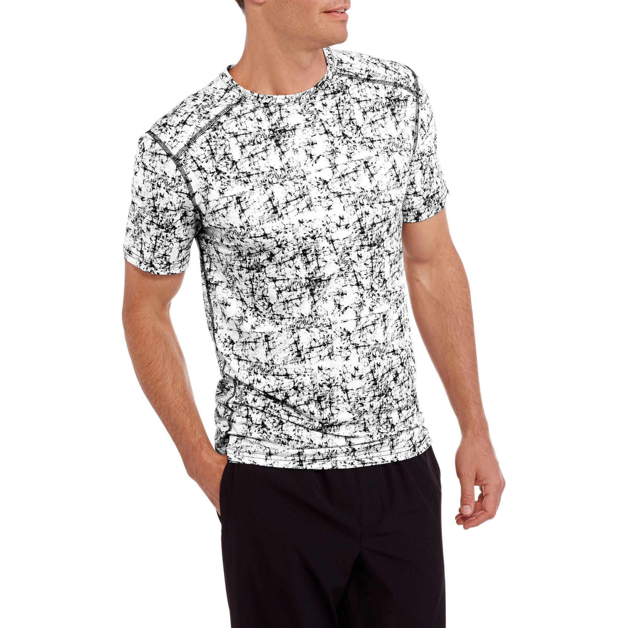 Russell Big Men's Performance Texture Printed Crew Tee