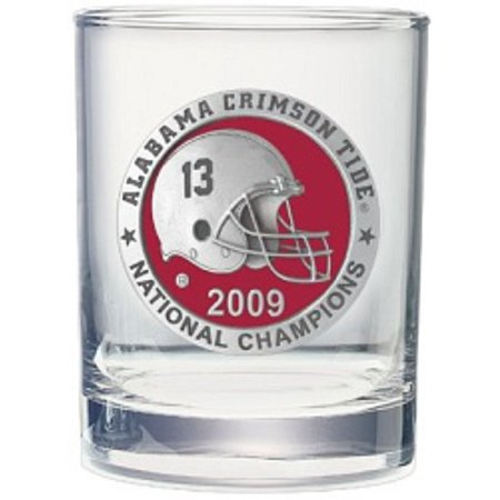 Alabama Crimson Tide 2009 BCS National Champions Rocks Glass