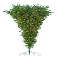 Upside Down Christmas Tree With Metal Base
