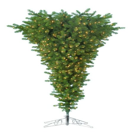 7.5 ft. Upside Down Christmas Tree with Metal Base ()