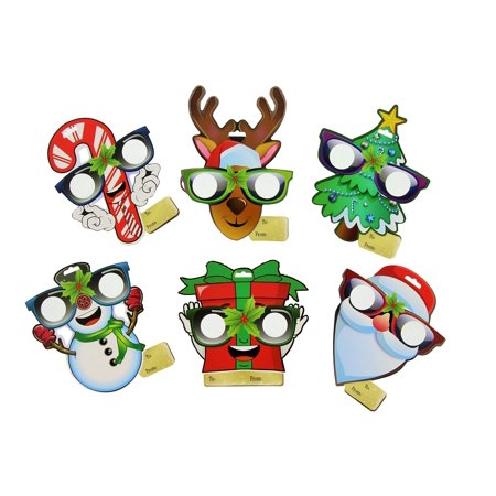 EyePop Ornaments by Holiday Specs -6pk Look through lenses and see Candy Canes, Snowmen, Presents, Santa, Reindeer, or Christmas Trees Appear before your - Holiday Loops