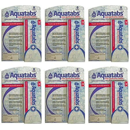 Aquatabs 180 Pack Water Purification Tablets 6 boxes of 30