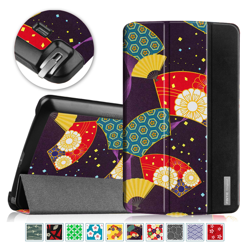 Fintie Case for LG G Pad F 8.0 AT&T V495/T-Mobile V496 /US Cellular UK495 - Slim Shell Standing Cover, Floral Fan Purple