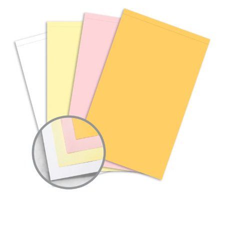 NCR Paper* Brand Superior Perf Multi-Colored Carbonless Paper - 8 1/2 x 14 1/2 in 21.3 lb Writing Precollated 4-Part RS Goldenrod, Pink, Canary, White Perforated on Top 500 per Ream 14 Count Perforated Paper