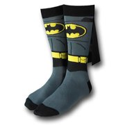 BioWorld Men's Suit Up Caped Socks, , Size: one size Grey