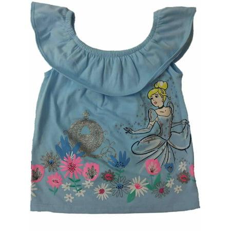 Infant Toddler Girls Disney Princess Cinderella Glittery Pumpkin Tee Shirt](Pumpkin Princess)
