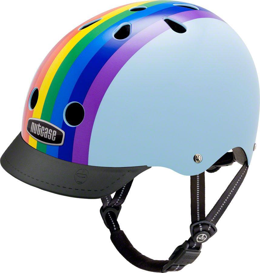 Nutcase Street Helmet: Rainbow Sky SM
