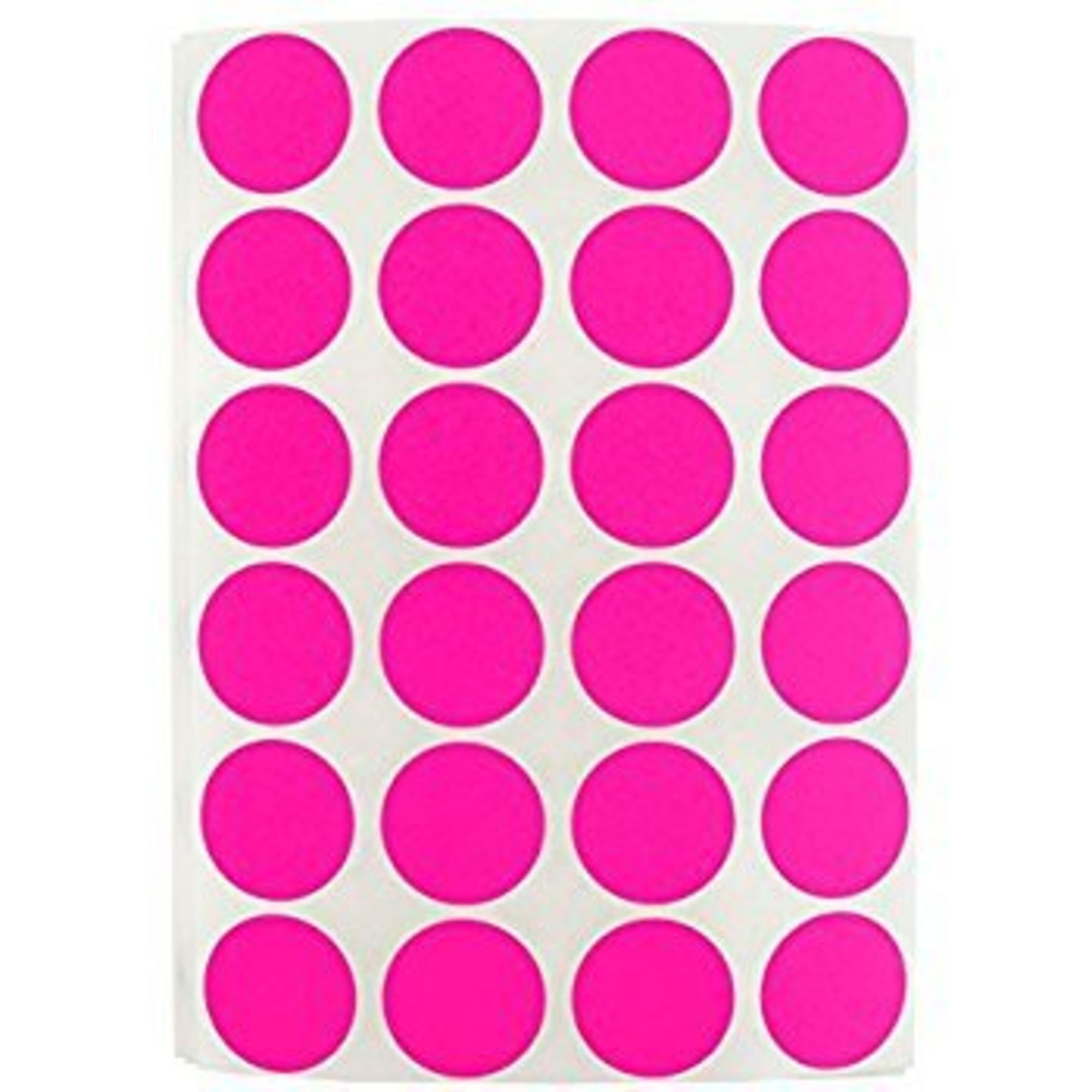 Preferred postage supplies color coding labels super bright fluorescent neon pink round circle dots for organizing