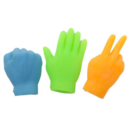 Set Of 3 Assorted Color Rock Paper Scissors Latex Finger Puppets](Paper Bag Puppets)