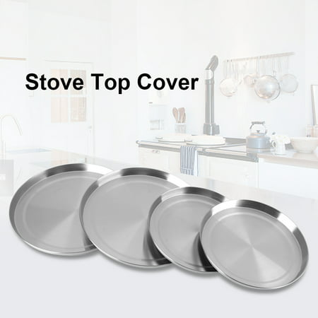 Greensen 4Pcs/Set Stainless Steel Kitchen Stove Top Burner Covers Cooker Protection , Burner Cover, Stove Cover - image 7 of 9
