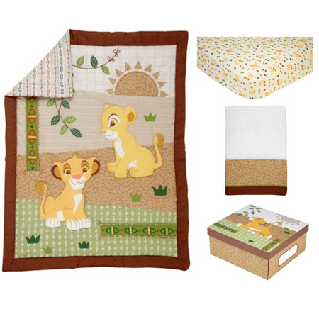 (Lion King Under the Sun 4 Piece Crib Bedding Set)