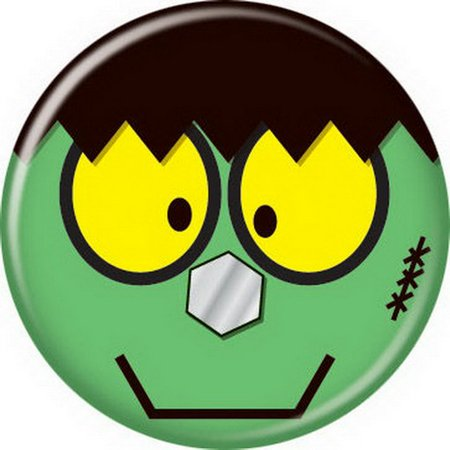 Halloween Frankenstein Button - Halloween Art Frankenstein