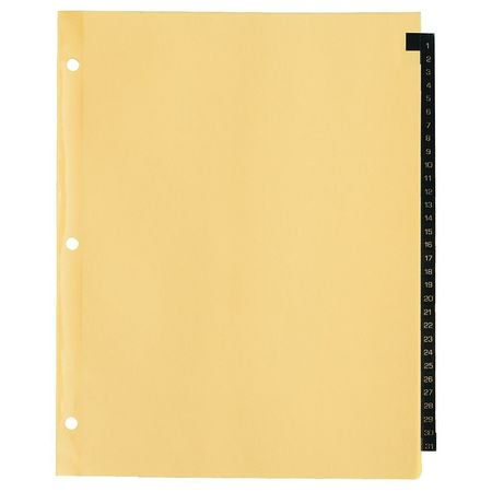 AVERY 11485 Index Tab Set, Numbered, 31 Tabs, Leather ()