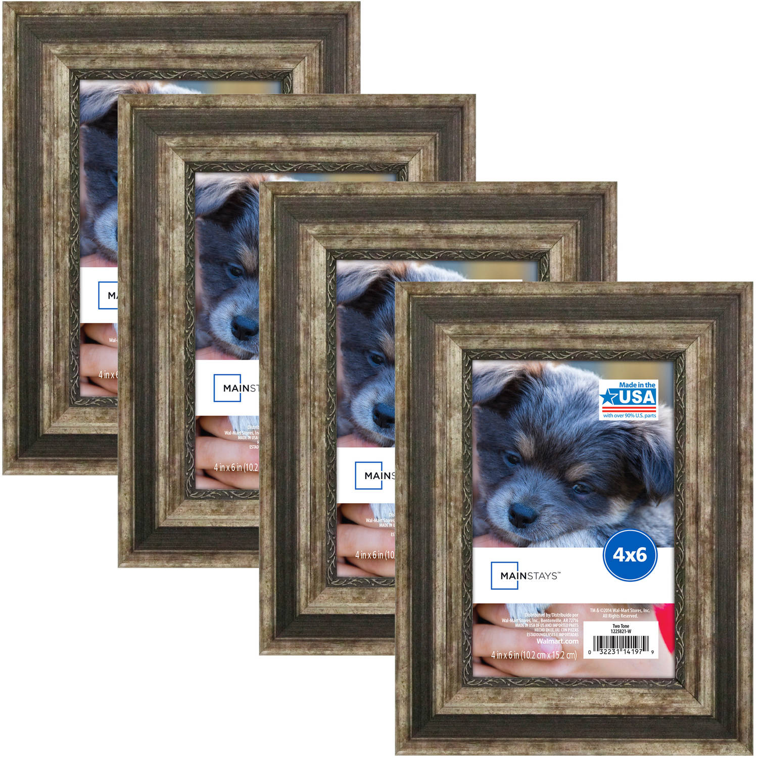 Mainstays Two-Tone Frame, Set of 4 - Multiple Sizes available