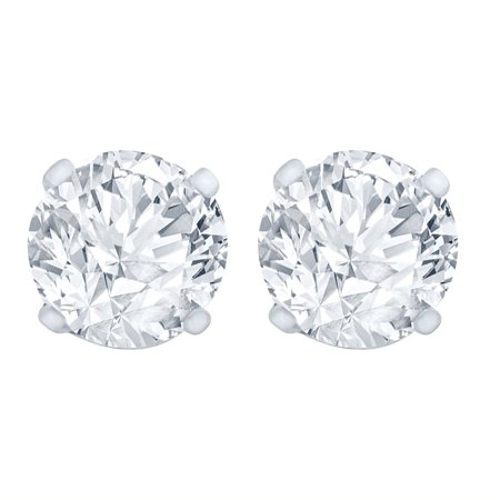1.00 Carat Diamond Stud Earrings (I2I3 Clarity, JK Color) 14kt Gold