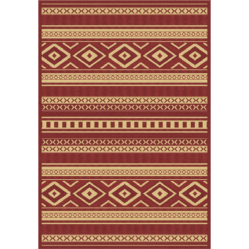 Crescent Drive Rug Company Piazza Red/Gold Indoor/Outdoor Area Rug