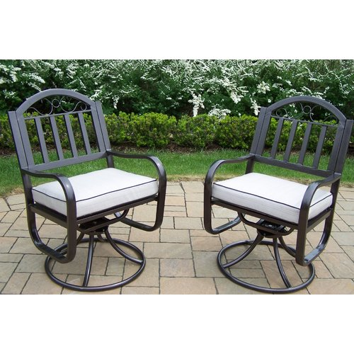 Oakland Living Rochester Swivel Rocking Chair with Cushions (Set of 2)