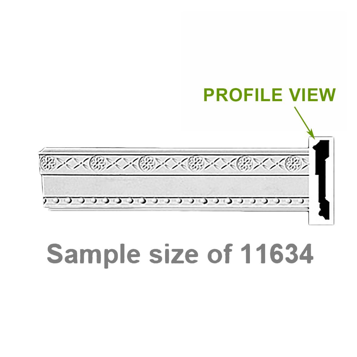 "Cornice White Urethane 24"" Sample of 11634 | Renovator's Supply"