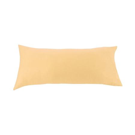 PiccoCasa Cotton Egyptian Body Size Pillow Cases Covers Protector Coffee 1 Piece