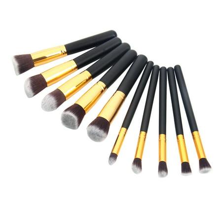 Zimtown 10Pc Makeup Brushes Tool Set Cosmetic Eyeshadow Face Powder Foundation Lip Brush - image 7 of 7