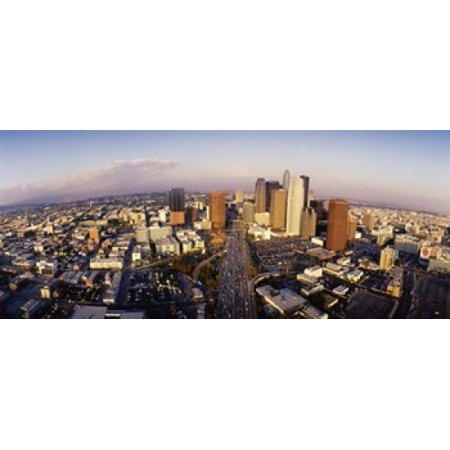 USA California Los Angeles Financial District Canvas Art - Panoramic Images (15 x - Financial District Halloween