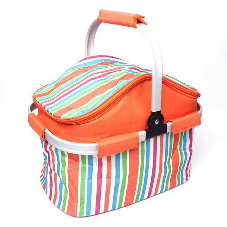 Erolldeep Insulated Folding Cooler Picnic Basket Bag Thermal Tote