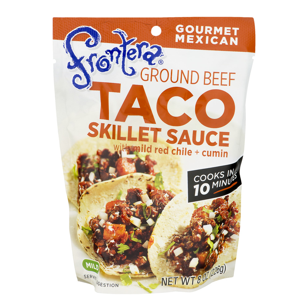 Frontera Taco Skillet Sauce Ground Beef With Mild Red Chile + Cumin, 8.0 OZ