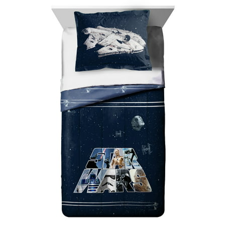 Disney Star Wars Kid's Twin & Full Reversible Comforter and Sham Set