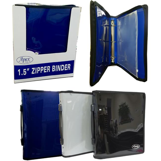 Eclips USA 1982016 1.5 in. 3 Ring Zipper Binder in Assort...