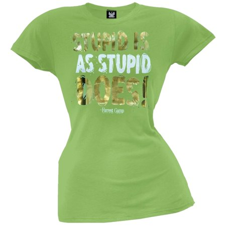 Forrest Gump - Stupid Is Juniors T-Shirt - Forrest Gump Suit