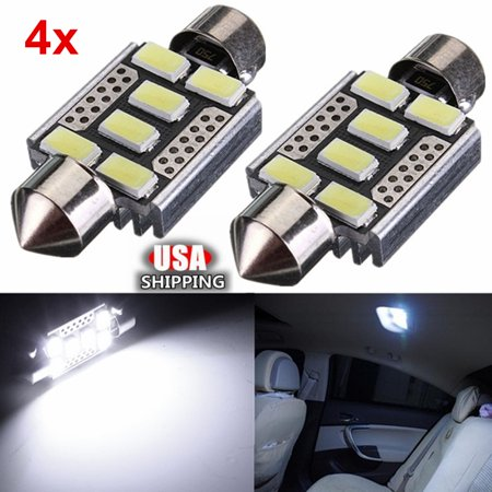 Interior Glove Box (White 6-SMD 6418 C5W Error Free LED Bulbs For European Car License Plate Lights 12V DC 5730 For interior light, Glove Box light, Dome light and Map light )