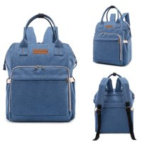 Multifunctional Hot Large Capacity Mummy Baby Maternity Diaper Bag Nappy Changing Bag Travel Backpack Mummy Bag (Blue)