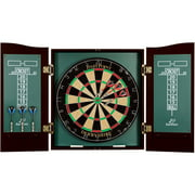 EastPoint Sports Derbyshire Bristle Dartboard; 18 Inch by 1.5 Inch Natural Sisal Fiber Dartboard with 6 Deluxe Steel Tip Darts