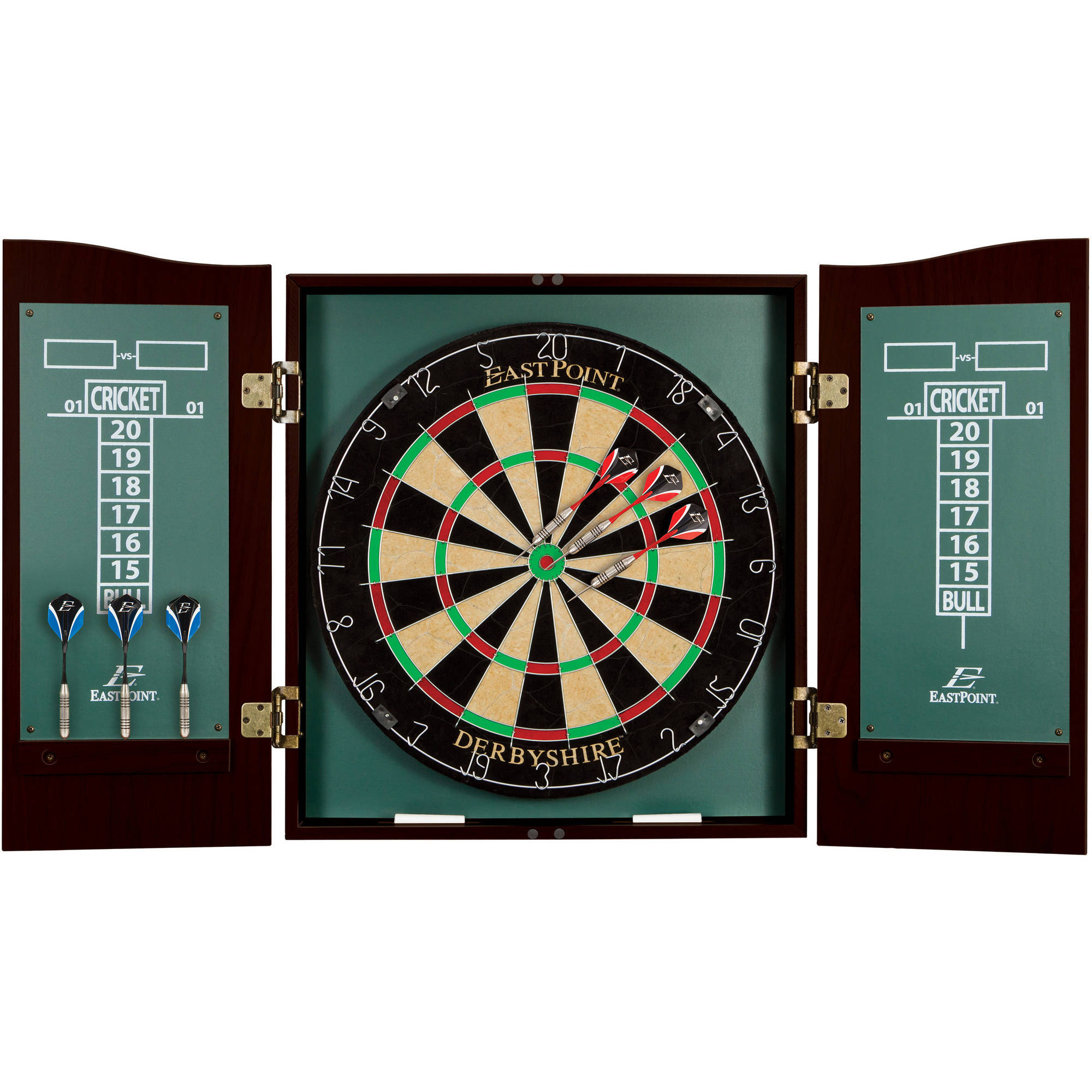 EastPoint Sports Derbyshire Dartboard U0026 Cabinet Set