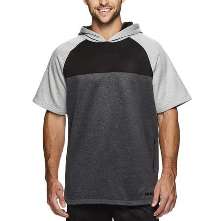Big Mens Hoodie - Big Men's Fleece Short Sleeve Hoodie