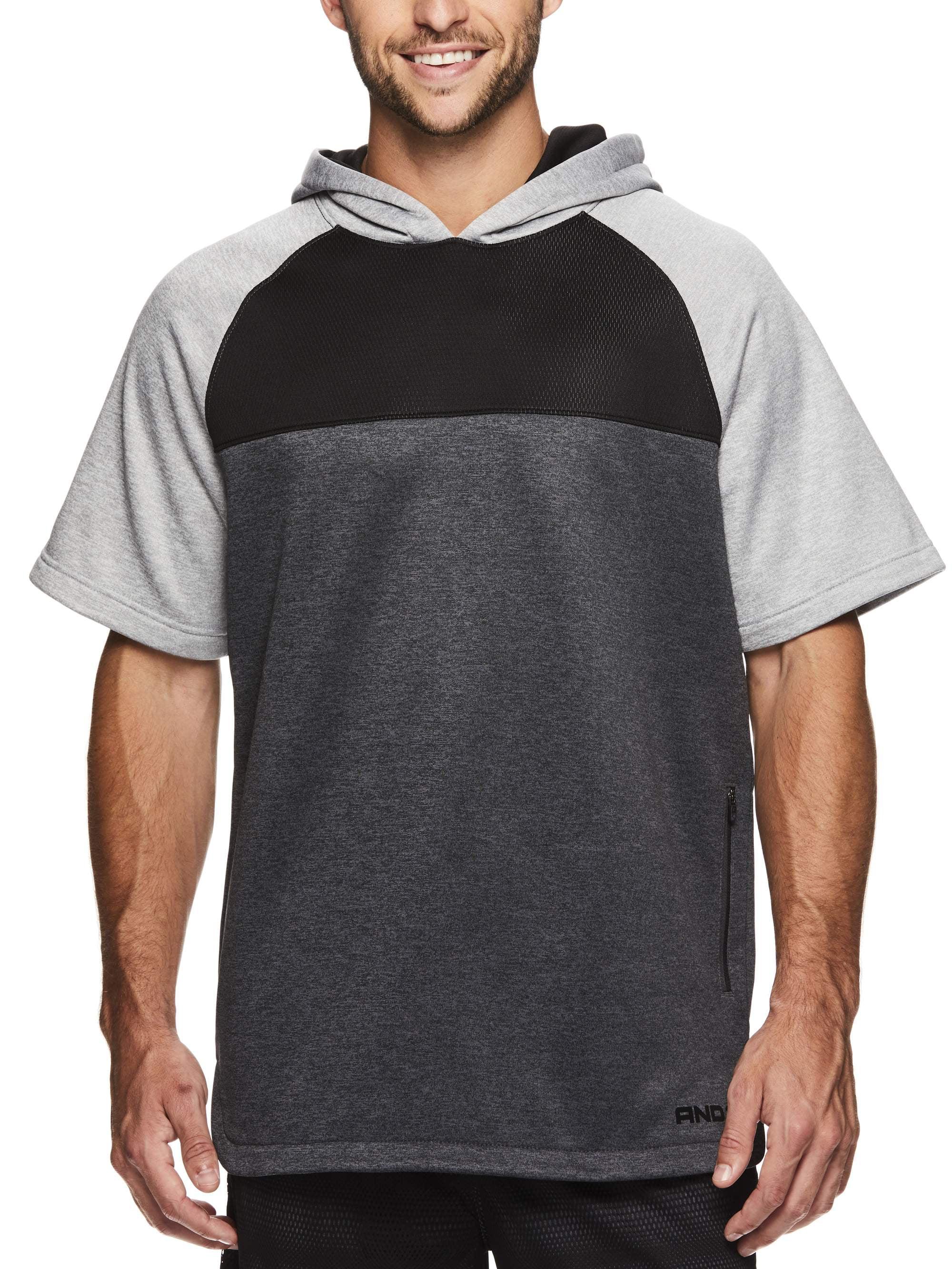 Men's Fleece Short Sleeve Hoodie