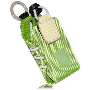 iPod nano 7th gen Activa Sports Pouch with Adjustable Velcro Armband and Detachable Lanyard fit with Protective Cases - Green