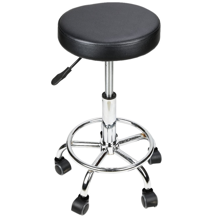 BX-6617A Circular Cushion Beauty Salon Work Stool Barber Stool Black