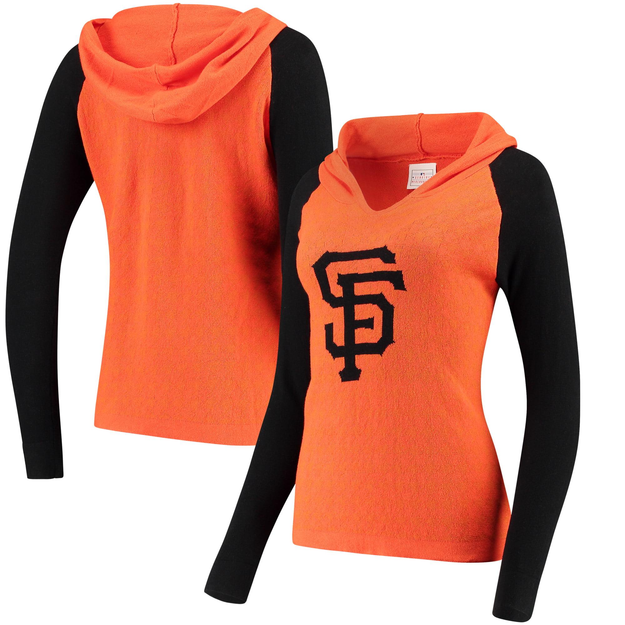San Francisco Giants Women's Team Logo Hooded V-Neck Sweater - Orange